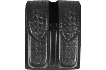 Safariland 77 Double Handgun Magazine Pouch - Basket Black, Ambidextrous 77-283-4HS