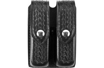 Safariland 77 Double Handgun Magazine Pouch - Basket Black, Ambidextrous - Glock 20/21 & Similar