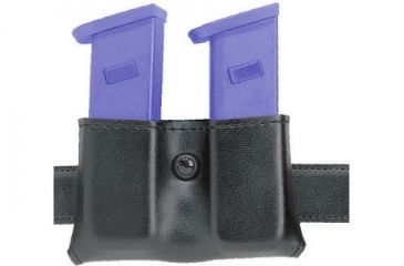 Safariland 079 Concealment Magazine Holder, Snap-On, Double - Plain Cordovan, Ambidextrous 079-83-06