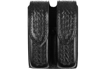 Safariland Double Handgun Magazine Pouch, Basket Black, Ambidextrous 773834HS
