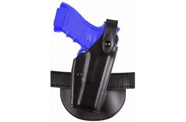 Safariland Concealment SLS Paddle Holster 6288 - Plain Black, Right Hand, Duty Holster, Glock 17 with SureFire X200 Light