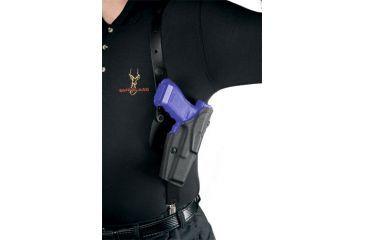 Safariland 1051 ALS Shoulder Holster System - Plain Black, Right Hand 1051-744-61