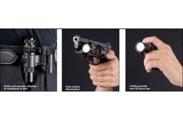 2-Safariland Weapon Light Mount Flashlight with AAA batteries
