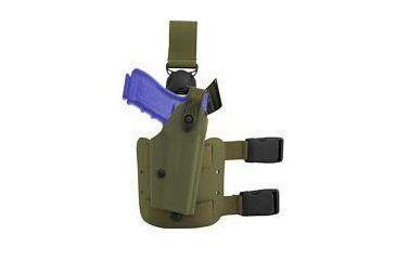 Safariland SLS Quick Release Leg Holster w/Hood Guard/Sentry, Right Hand, Foliage Green - Beretta 92/96