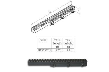 Sako Sako Trg High Picatinny Rail (225mm Long) S151W231