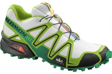 Salomon Men's Mountain Trail Series Speedcross 3 Running Shoe,White,7 36194226