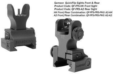 Samson FFS-FRS-PKG Manual Folding A2 Front/Rear AR-15 Alum Black