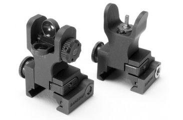 Samson Folding Front & Rear Sight Package A2, Dual Aperture, Black QF-FFS-FRS