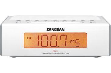 Sangean AM/FM Digital Tuning Clock Radio, White/ gray RCR-5