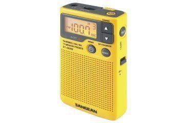 Sangean AM/FM/NOAA Weather Emergency Alert, Speaker, Digital Tuning, Yellow DT-400W