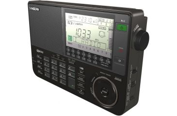 Sangean FM-Stereo PLL Synthesized Receiver Radio, Black ATS-909X BK