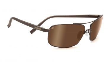 Serengeti Palladio Sunglasses - Satin Dark Brown Frame, Polar PhD Drivers Gold Lenses 7568