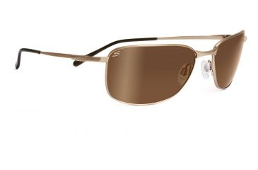 Serengeti Agata Sunglasses - Satin Gold Frame, Drivers Gold Polarized Lenses 7581