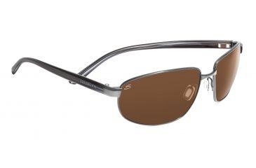 Serengeti Palladio Sunglasses - Satin Dark Brown Frame, Polar PhD Drivers Gold Lenses 7568