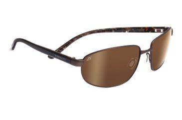 Serengeti Trapani Sunglasses - Satin Dark Brown Tortoise Frame, Drivers Gold Polarized Lenses 7600