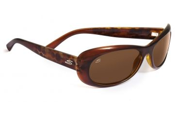 Serengeti Trapani Sunglasses - Shiny Silver Smoke Stripe Frame, 555nm Lenses 7603
