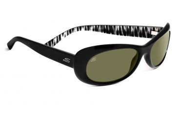 Serengeti Bella Sunglasses - Shiny Black Zebra Frame, 555nm Lenses 7628
