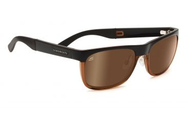 Serengeti Nico Sunglasses - Satin Dark Brown/Shiny Cognac Frame, Drivers Gold Polarized Lenses 7643