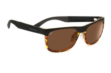 Serengeti Nico Sunglasses - Satin Black/Shiny Dark Tort Frame, Drivers Lenses 7646