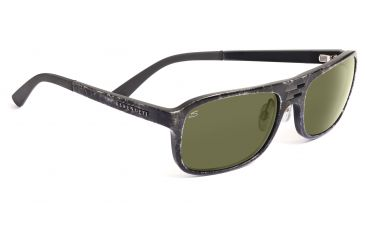 Serengeti Lorenzo Sunglasses - Shiny Gray Marble Frame, 555nm Polarized Lenses 7649