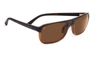 Serengeti Lorenzo Sunglasses - Satin Dark Brown/Shiny Cognac Frame, Drivers Lenses 7651