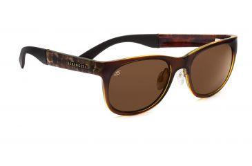 Serengeti Piero Sunglasses - Shiny Bubble Tortoise Frame, Drivers Polarized Lenses 7635