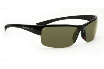 Serengeti Corrente Sunglasses - Shiny Black/Crystal Red Frame, Polar PhD 555nm Lenses 7693