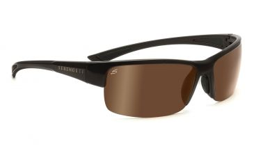 Serengeti Corrente Sunglasses - Shiny Crystal Cognac/Satin Dark Brown Frame, Polar PhD Drivers Gold Lenses 7698