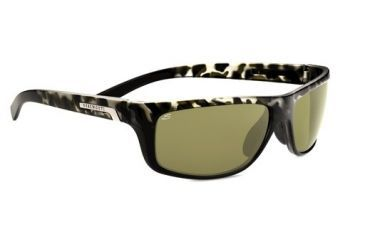 Serengeti Assisi Sunglasses -  Black Tortoise Frame and Polar PhD 555nm Lens 7752
