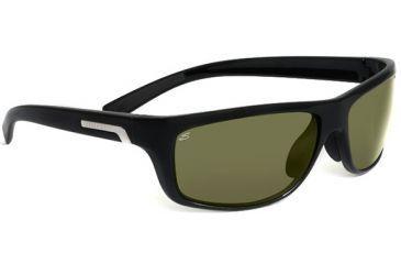 Serengeti Assisi Sunglasses Shiny Black Frame Polar Phd 555nm Lenses 7615