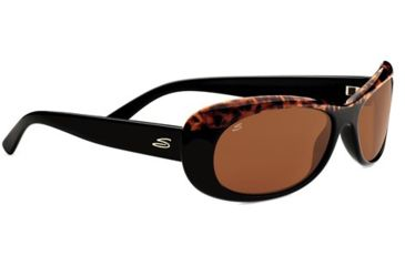 Serengeti Bella Sunglasses - Shiny Black Cork Frame and Polarized Drivers Lens 7747