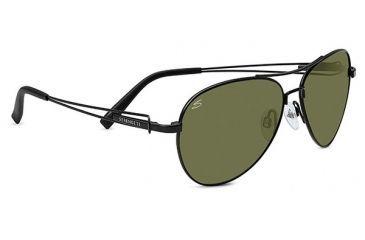 Serengeti Brando Single Vision Prescription Sunglasses, Satin Black Frame-7886SV
