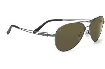 Serengeti Brando Sunglasses Velvet Gunmetal Frame 555nm Polarized Lenses 7541