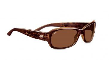 Serengeti Chloe Sunglasses - Shiny Bubble Tortoise Frame, Drivers Polarized Lenses 7625