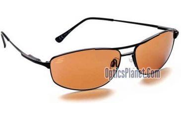 1-Serengeti Coupe Sunglasses w/ Drivers Lenses, Black Metal Frame