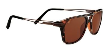 Serengeti Empoli Sunglasses - Shiny Dark Tortoise Frame and Polarized Drivers Lens 7761
