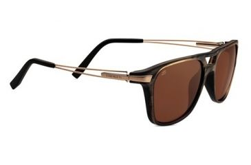 Serengeti Empoli Sunglasses - Brown Frost Fade Frame and Polarized Drivers Lens 7763