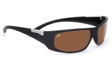 Serengeti Fasano Single Vision Rx Sunglasses Shiny Black Frame 7704