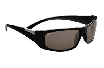 Serengeti Fasano  Sunglasses, Shiny Black Gray 7751RX