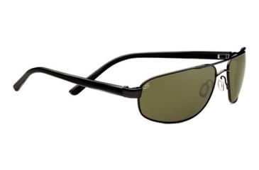 Serengeti Livigno Sunglasses - Shiny Gunmetal / Grey Stripe Frame and Polarized 555nm Lens 7770