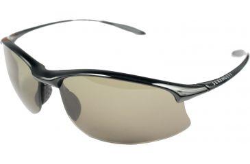 Serengeti Maestrale Sunglasses-Shiny Black Frame Polar PhD 555 Lenses 7712