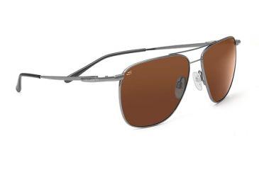 Serengeti Marco Sunglasses Shiny Gunmetal Frame Drivers Polarized Lenses 7547