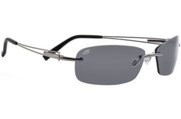 Serengeti Mare Sunglasses - Shiny Silver Frame, Polar PhD Drivers Lens 7349