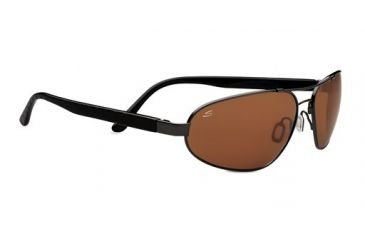 Serengeti Monza Sunglasses - Shiny Gunmetal/Solid Black Laser Frame and Polar PhD Drivers Lens 7792
