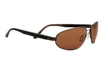 Serengeti Monza Sunglasses - Satin Dark Brown/Black Brown Laser Tortoise Frame and Polar PhD Drivers Lens 7794