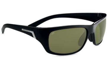 Serengeti Orvieto Sunglasses - Shiny Black Frame, Polar PhD 555nm Lenses 7621