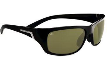 Serengeti Orvieto Sunglasses - Shiny Satin Black Frame and Polar PhD 555nm Lens 7755