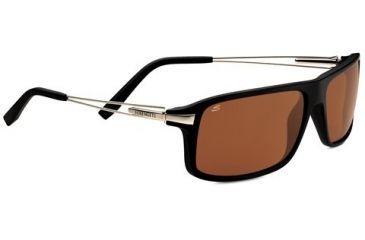 Serengeti Rivoli Sunglasses - Satin Black  Frame and Polarized Drivers Lens 7765