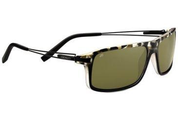 Serengeti Rivoli Sunglasses - Satin Black Tortoise Frame and Polarized 555nm Lens 7766