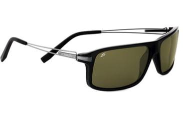 Serengeti Rivoli Sunglasses - Shiny Black Frame and Polarized 555nm Lens 7767
